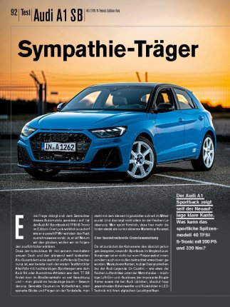 Test: Audi A1 SB 40 TFSI S-Tronic Edition One