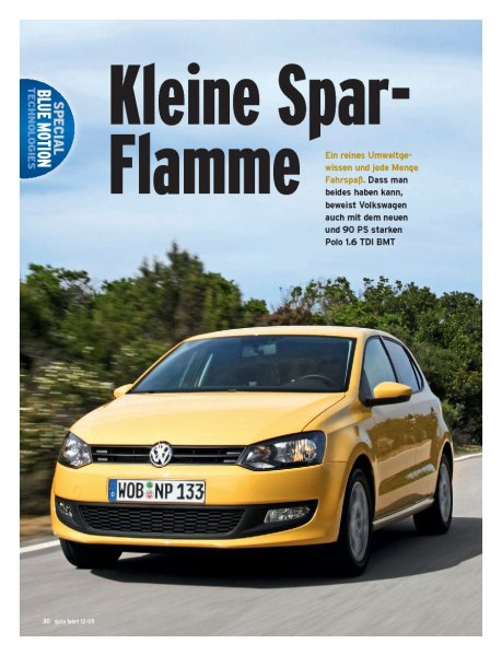 Polo 1.6 TDI BMT mit 90 PS