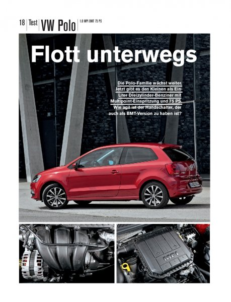 Test: Polo 1.0 MPI BMT 75 PS