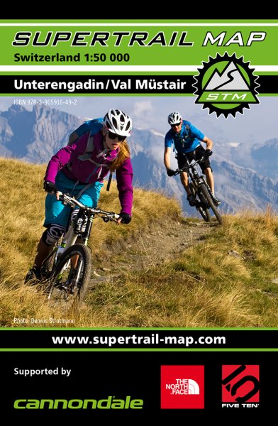 Supertrail Map Unterengadin / Val Müstair