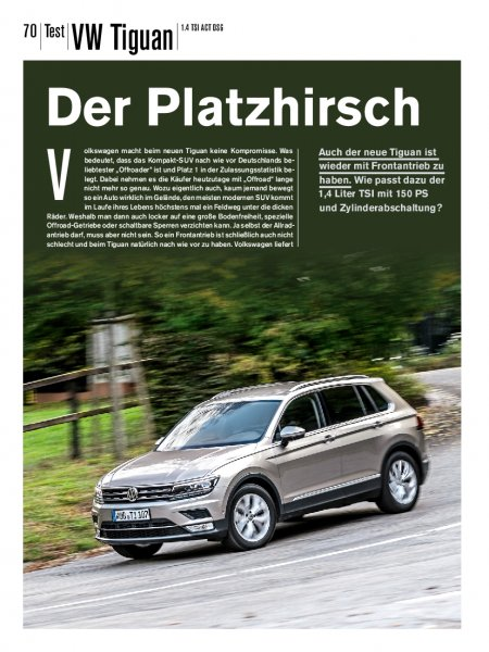 Test: VW Tiguan 1.4 TSI ACT DSG