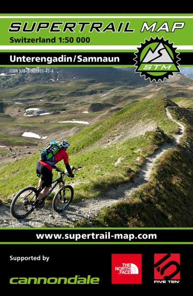 Supertrail Map Unterengadin / Samnaun