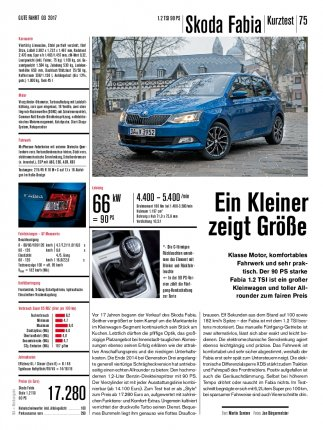 Kurztest: Skoda Fabia 1.2 TSI 90 PS