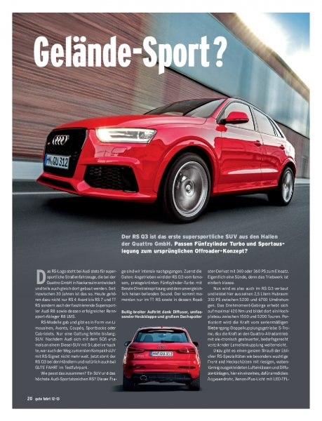 Test: Audi RS Q3 310 PS
