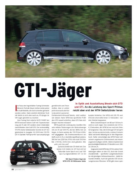 TUNING MTM Golf GTD 205 PS