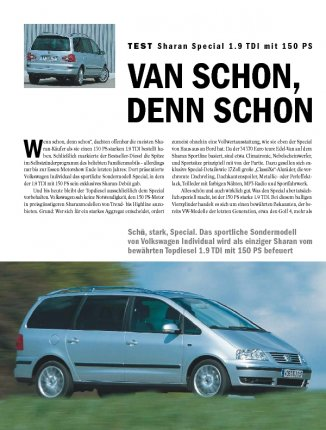 Test: Sharan Special 1.9 TDI mit 150 PS