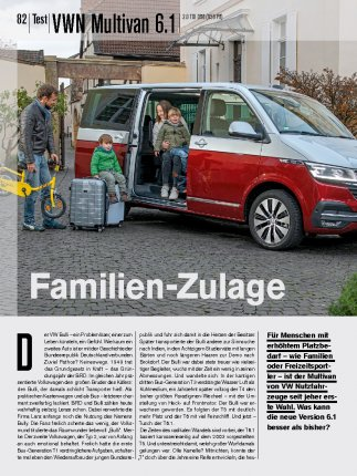 Test: VWN Multivan 6.1 2.0 TDI DSG 150 PS