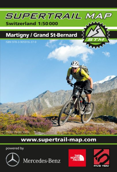 Supertrail Map Martigny / Grand St. Bernard