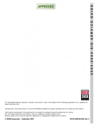 2003-2004 SID Service Guide