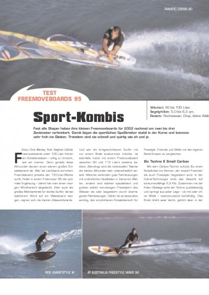 Test: Freemoveboards 95