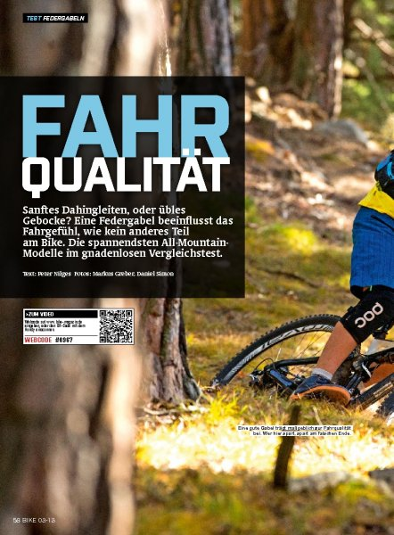Test: All Mountain Federgabeln