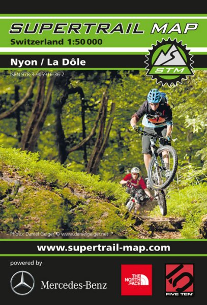 Supertrail Map Nyon / La Dôle
