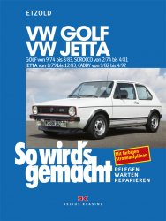 VW Golf 9/74-8/83, VW Scirocco 2/74-4/81, VW Jetta 8/79-12/83, VW Caddy 9/82-4/92