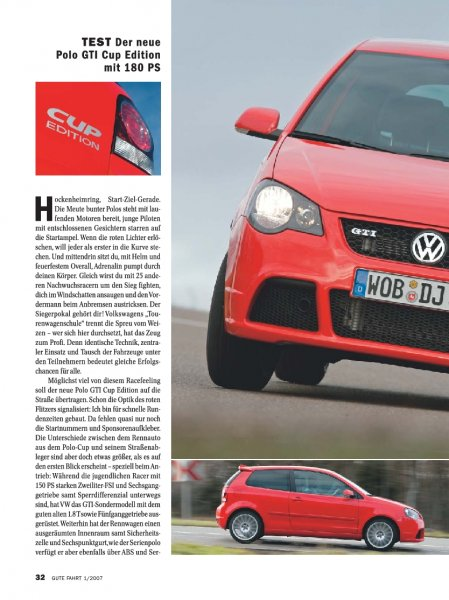 Test: Der neue Polo GTI Cup Edition mit 180 PS