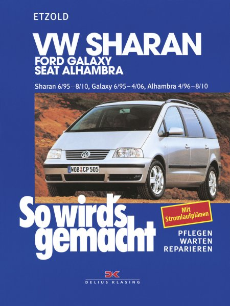 VW Sharan 6/95-8/10, Ford Galaxy 6/95-4/06, Seat Alhambra 4/96-8/10