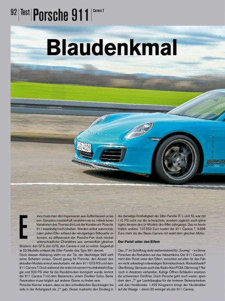 Test: Porsche 911 Carrera T