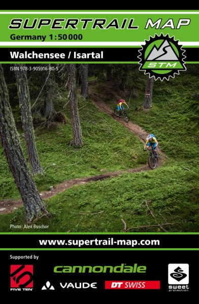 Supertrail Map Walchensee / Isartal