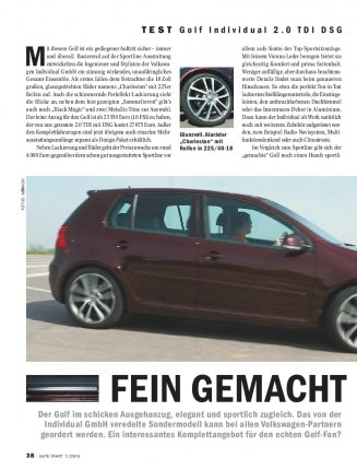 Test: Golf Individual 2.0 TDI DSG