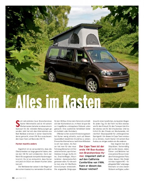 Test: T5 Hymer Car Cape Town 2.0 TDI 140 PS