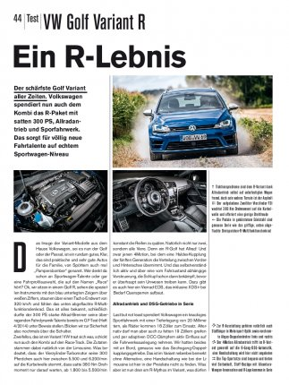 Test: VW Golf Variant R