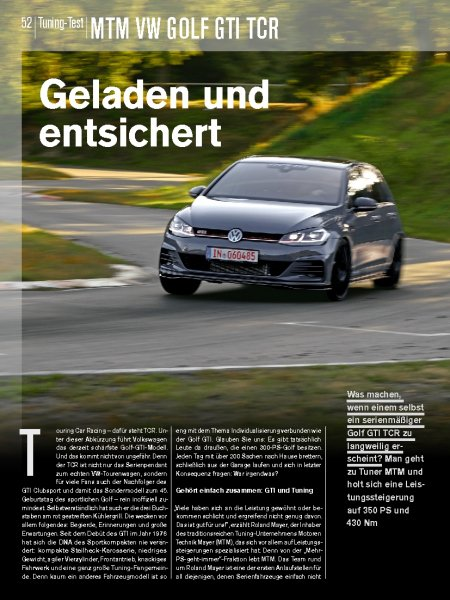 Tuning-Test: MTM VW GOLF GTI TCR