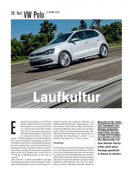 Test: VW Polo 1.2 TSI BMT 110 PS