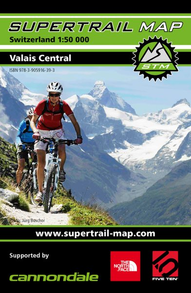 Supertrail Map Valais Central