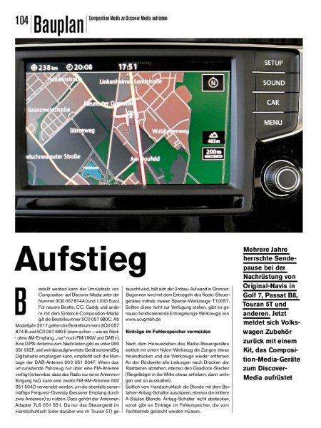 Bauplan: Composition Media zu Discover Media aufrüsten