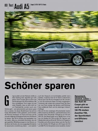 Test: Audi A5 Coupé 2.0 TDI 190 PS S-Tronic