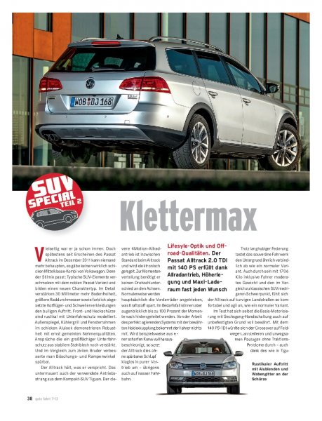 Test: Passat Alltrack 2.0 TDI 4Motion 140 PS