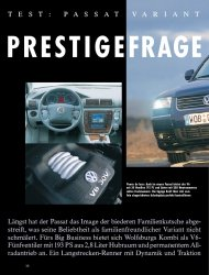 Test: Passat Variant V6 4Motion mit 193 PS