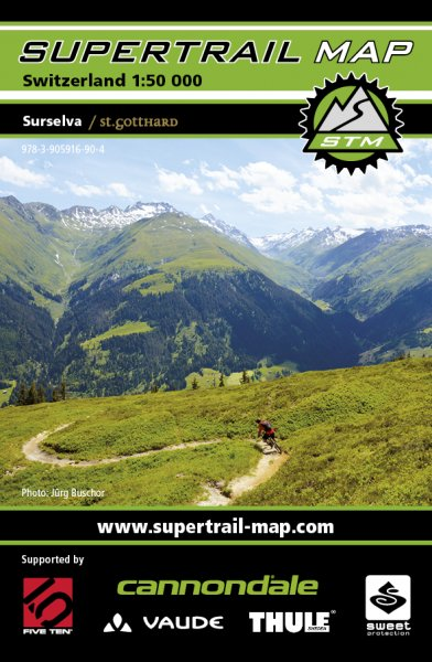 Supertrail Map Surselva/St. Gotthard
