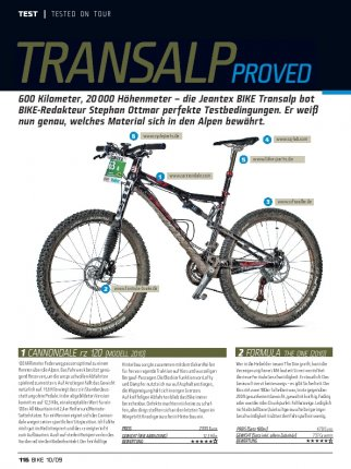 Transalp proved (Tested on Tour)