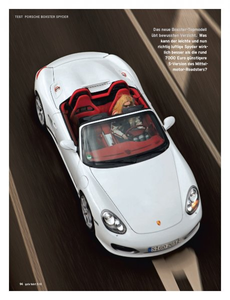 Boxster Spyder mit 320 PS