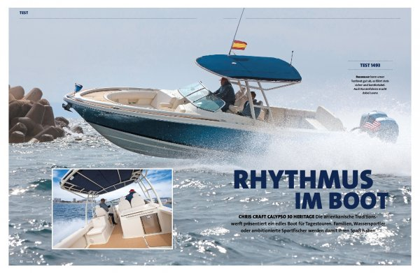 Test: Chris Craft Calypso 30 Heritage – Rhythmus im Boot