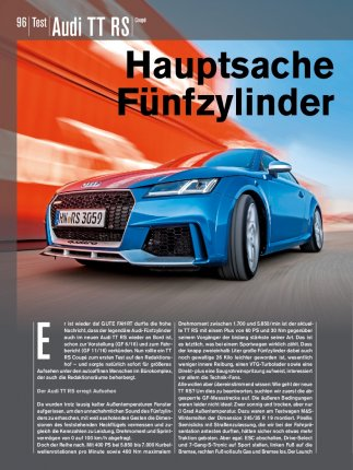Test: Audi TT RS Coupé