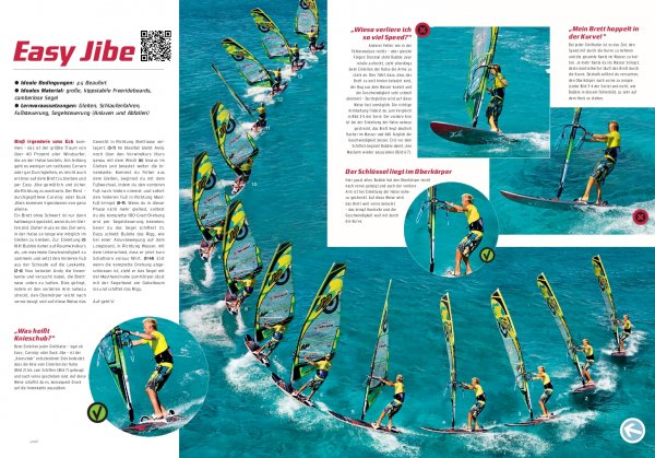 Windsurf-Manöver: Easy Jibe/Powerhalse