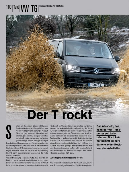 Test: VW T6 Transporter Rockton 2.0 TDI 4Motion