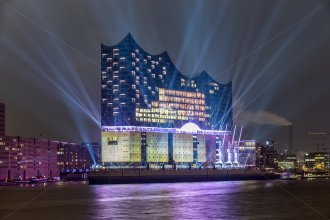 Willner, Hamburger Elbphilharmonie Laser Show