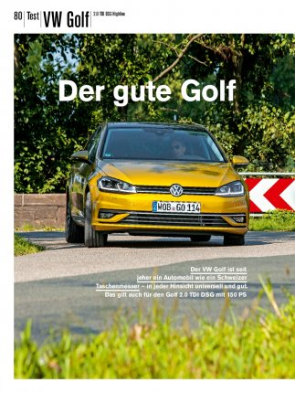 Test: VW Golf 2.0 TDI DSG Highline