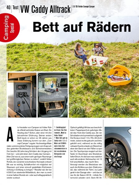Test: VW Caddy Alltrack Rohde Concept Camper
