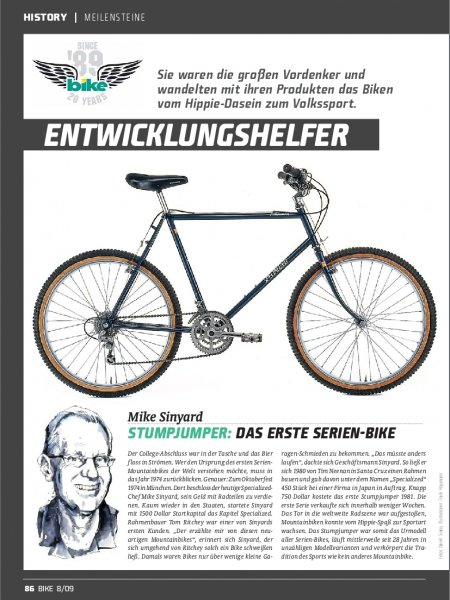 BIKE History: Meilensteine