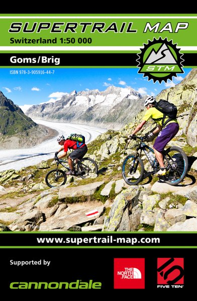 Supertrail Map Goms / Brig