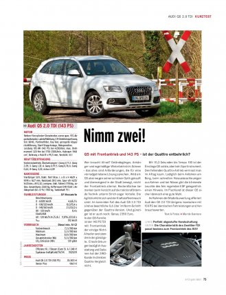 Kurztest Audi Q5 2.0 TDI 143 PS