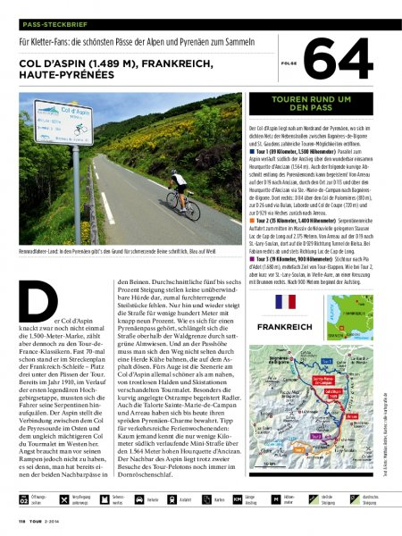 Pass-Steckbrief: Frankreich: Col d'Aspin