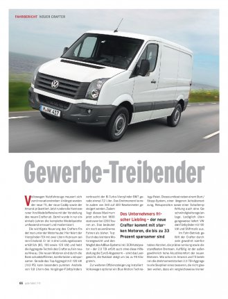 FAHRBERICHT Crafter 2.0 TDI 163 PS