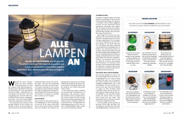 Praxistest: LED-Laternen – Alle Lampen an