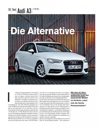 Test: Audi A3 1.6 TDI Ultra 110 PS