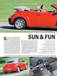 Test: New Beetle Cabriolet 1.8T mit 150 PS