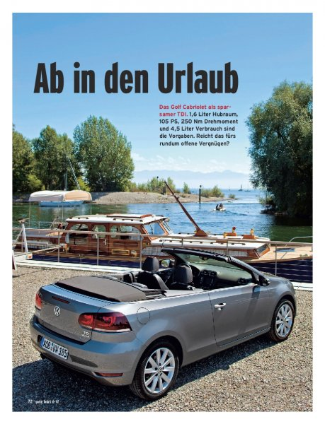 Golf Cabrio 1.6 TDI BMT 105 PS